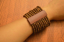Load image into Gallery viewer, Wood Bead Stretch Bracelet