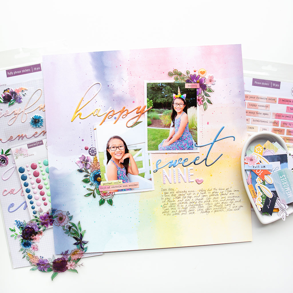Happy Sweet Layout featuring the new Just A Little Lovely collection