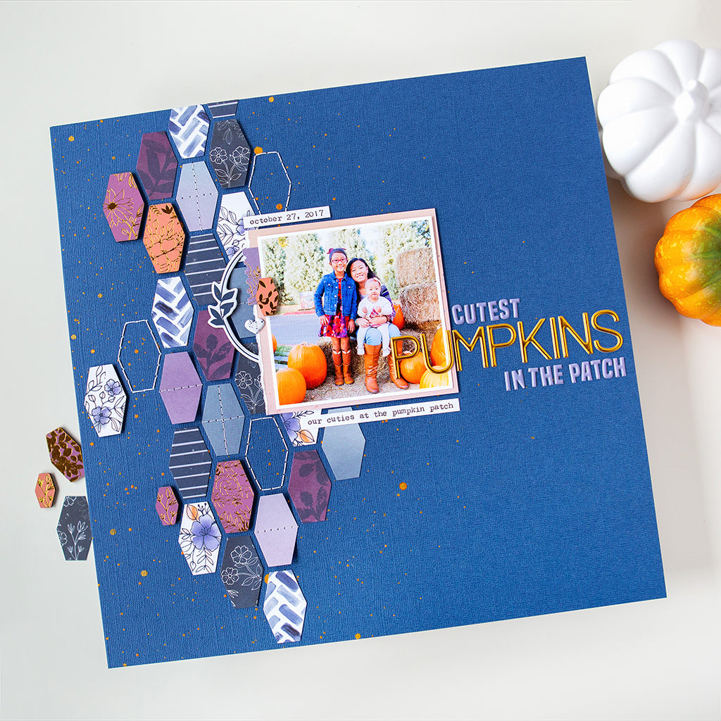 Fall scrapbooking layouts featuring Indigo Hills 2
