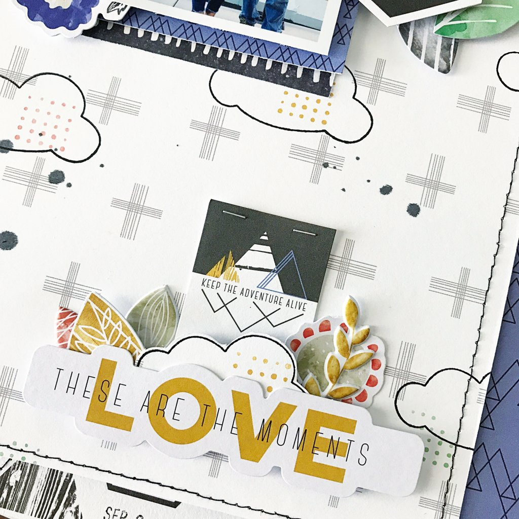 Using Stamps on A Layout Using the Escape the Ordinary and Boys Fort Collections with Adrienne Alvis