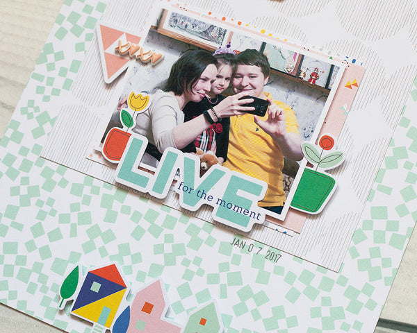 Dream on scrapbook layouts by Anna