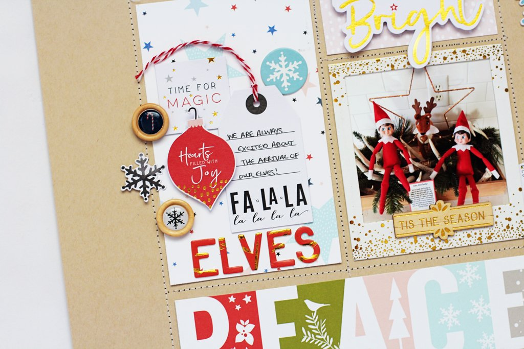 Two Holiday Inspired Layouts Using the December Days Collection