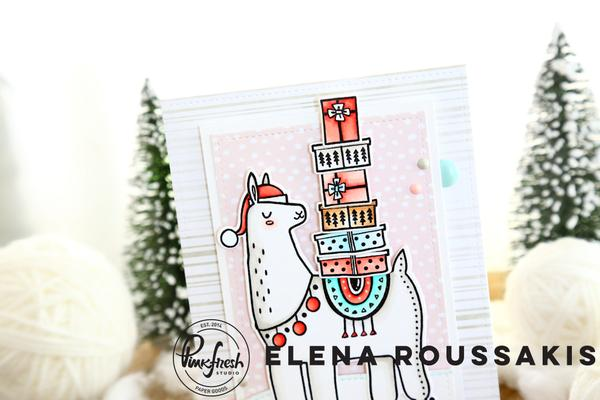 Festive Llama and Merry and Bright