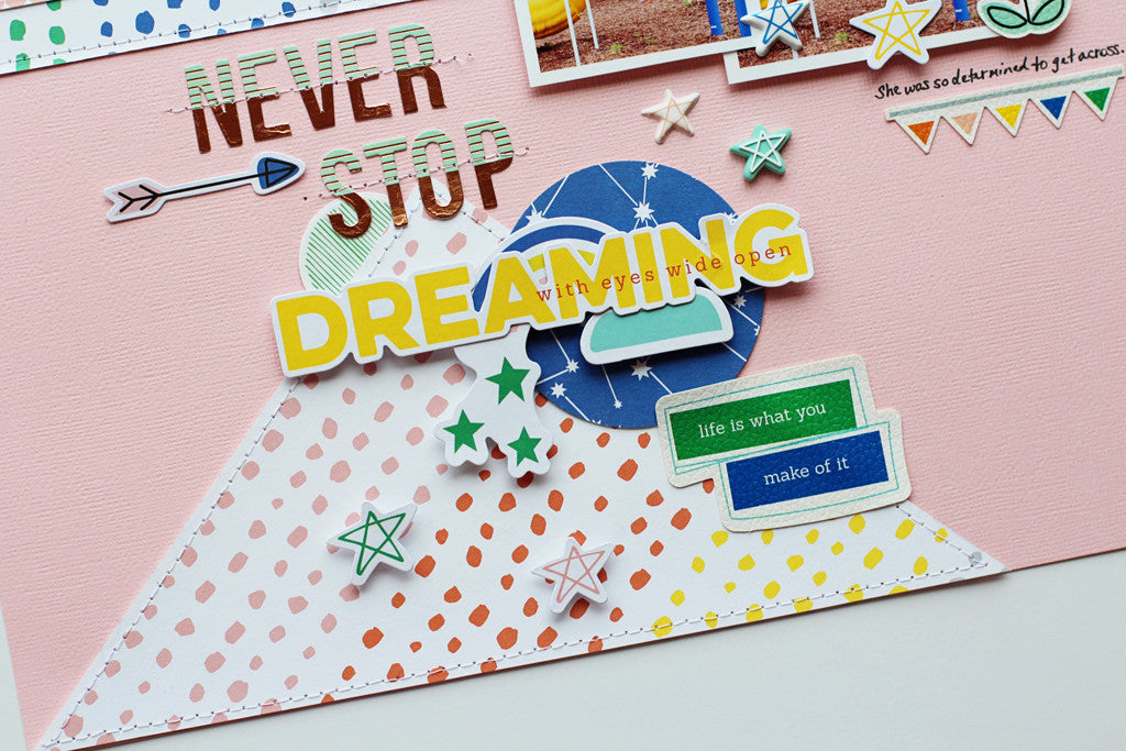 Layouts with Dream on collection