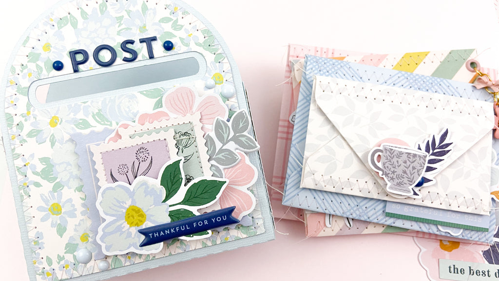 Mailbox and Stacked Letters Mini Album | Ashley Bright