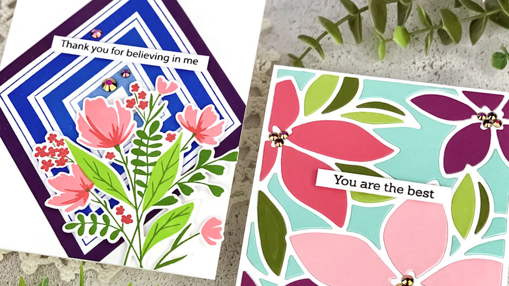 Modern Floral Thank You Cards | Angelica Conrad