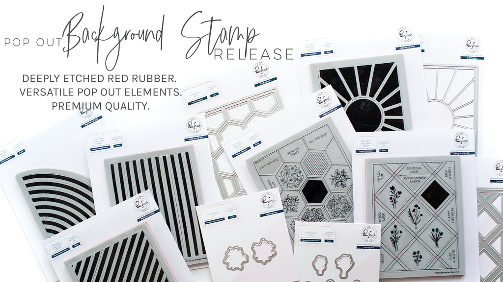 June 2020 Pop Out Background Stamp & Die Release