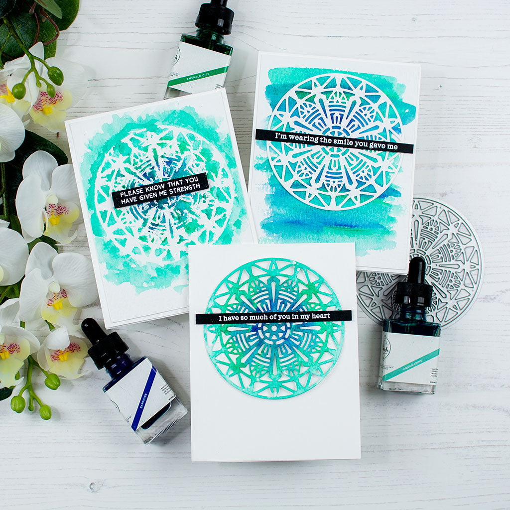 Watercolor Modern Mandala Cards with Heather Hoffman