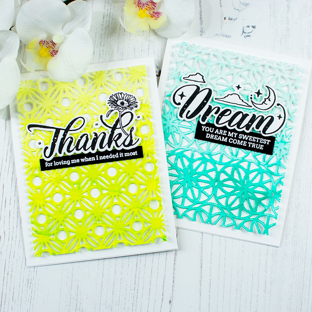 Thanks and Dream Frosted Geo Backgrounds