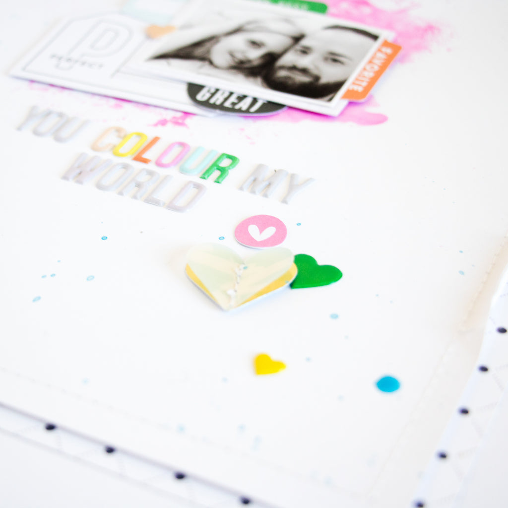 All About the Hearts | The Mix No. 2 & Be You Layouts | Kathleen Graumüller