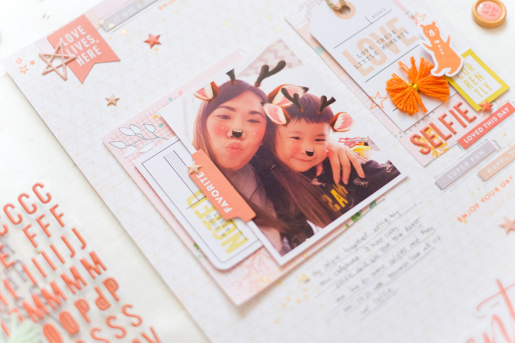 Be  You & The Mix Vol 2 | Scrapbook Layouts | Evelyn Yusuf