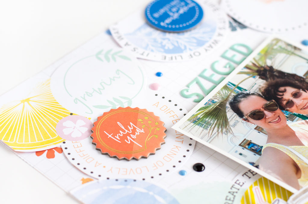 Summer Layouts with Simple & Sweet  | Flora Farkas