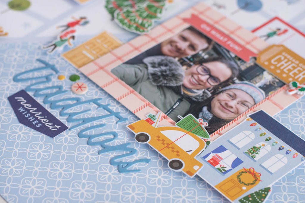 Festive Layout with Oh What Fun I Flora Farkas