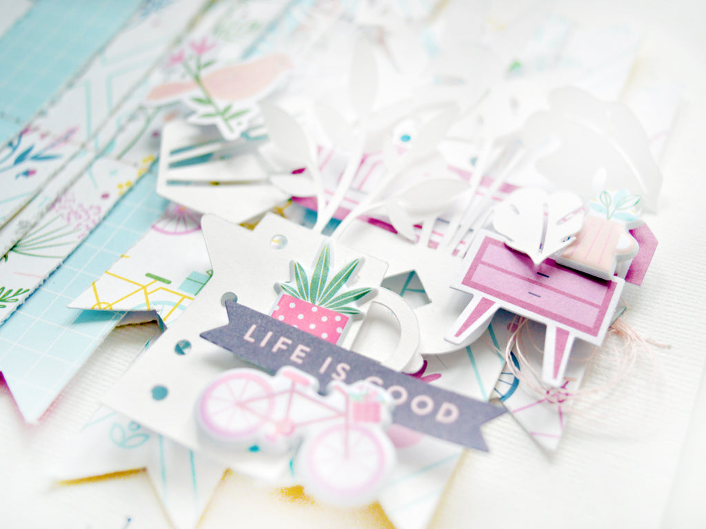 A way to use pieces of patterned papers leftover from other projects   Cristina Sales