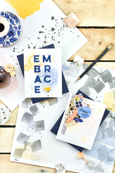 Embrace Happy Vibes Cards by Taheerah