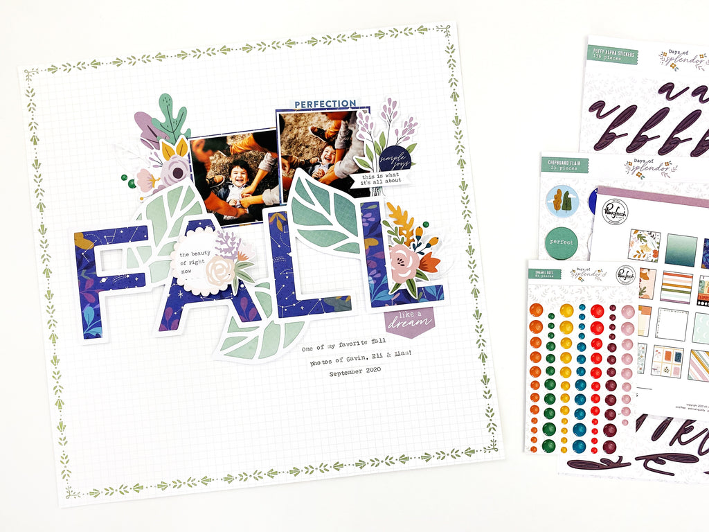 Fall Layout with Days of Splendor | Erica Thompson