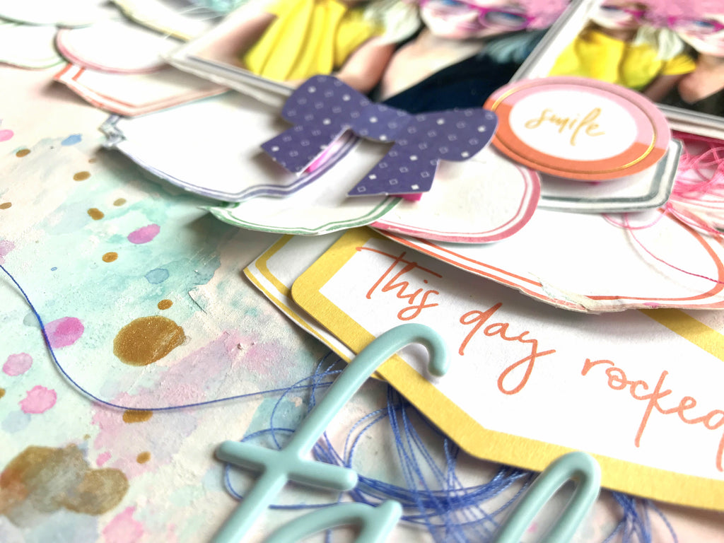 Mixed Media Layouts with Joyful Day | Missy Whidden