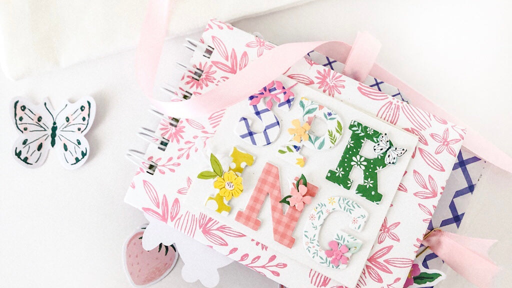 Spiral binding Mini Album with Happy Blooms collection | Susi Becerra