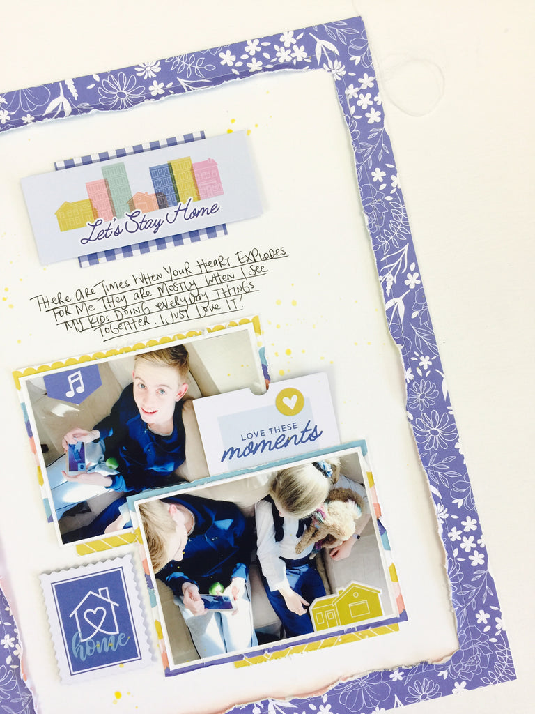 Simple Scrapbooking with Let's Stay Home | Lauren Hender