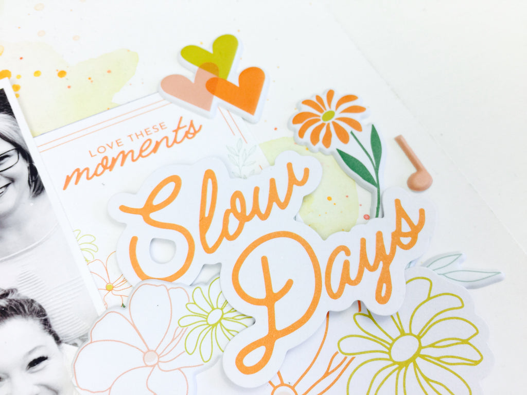 Slow Days | Mixed Media Scrapbooking | Lauren Hender