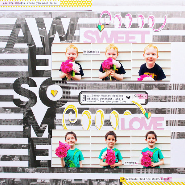 Awesome Sweet Love: a Layout using Felicity and Life Noted