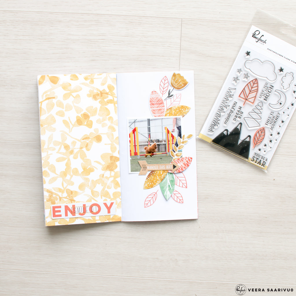 Stamping in Traveler's Notebook with Veera