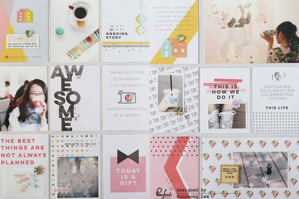 A Projectlife spread &  A Layout by Eunyoung.