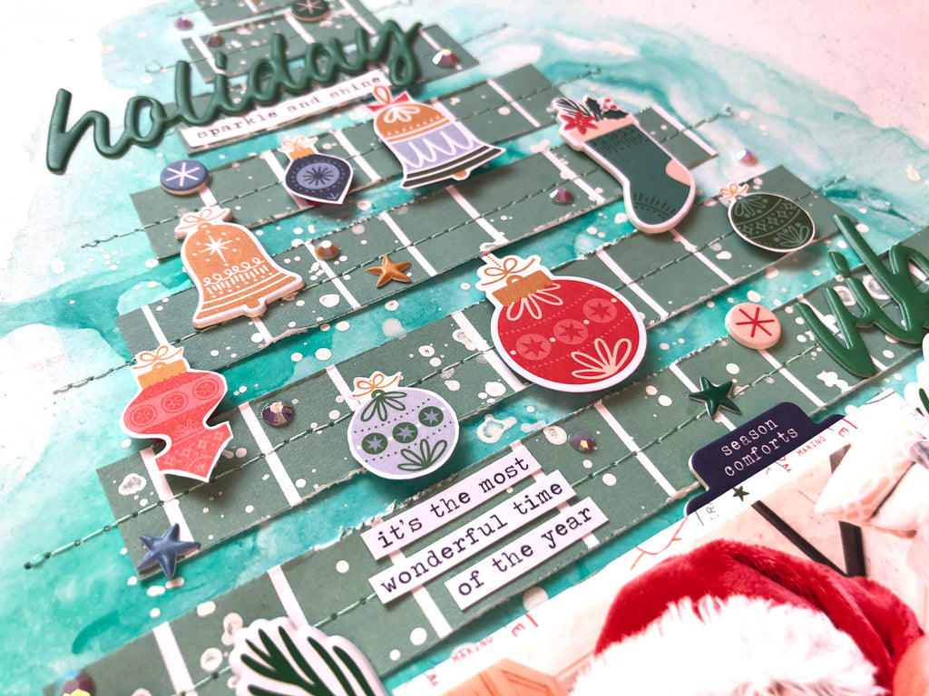 Holiday Vibes using Oh What Fun by Vicki Parker