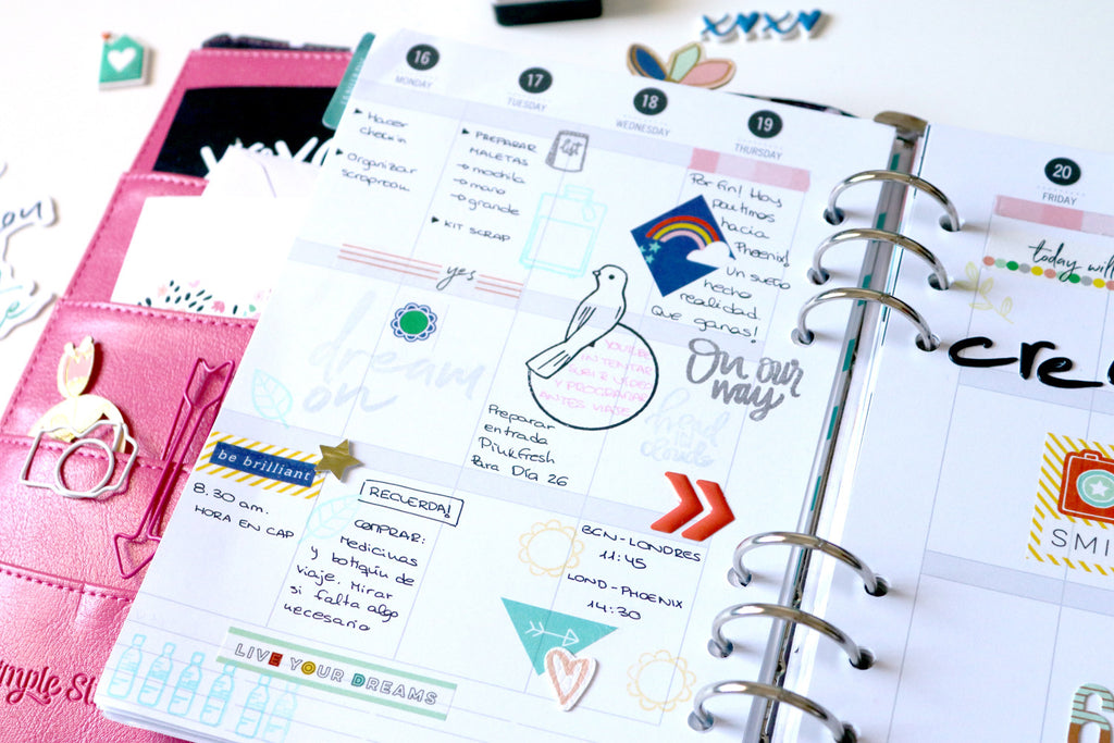 Planning and scrapbooking with Dream On