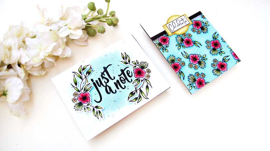 Video: Two Cards using Fancy Blooms with Erum