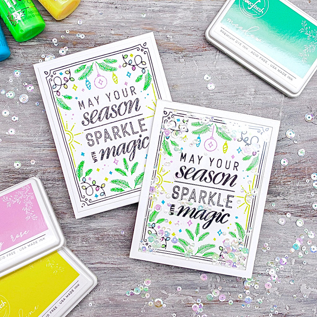 Two Ways to Add Sparkle Featuring the Sparkle with Magic Stamp Set