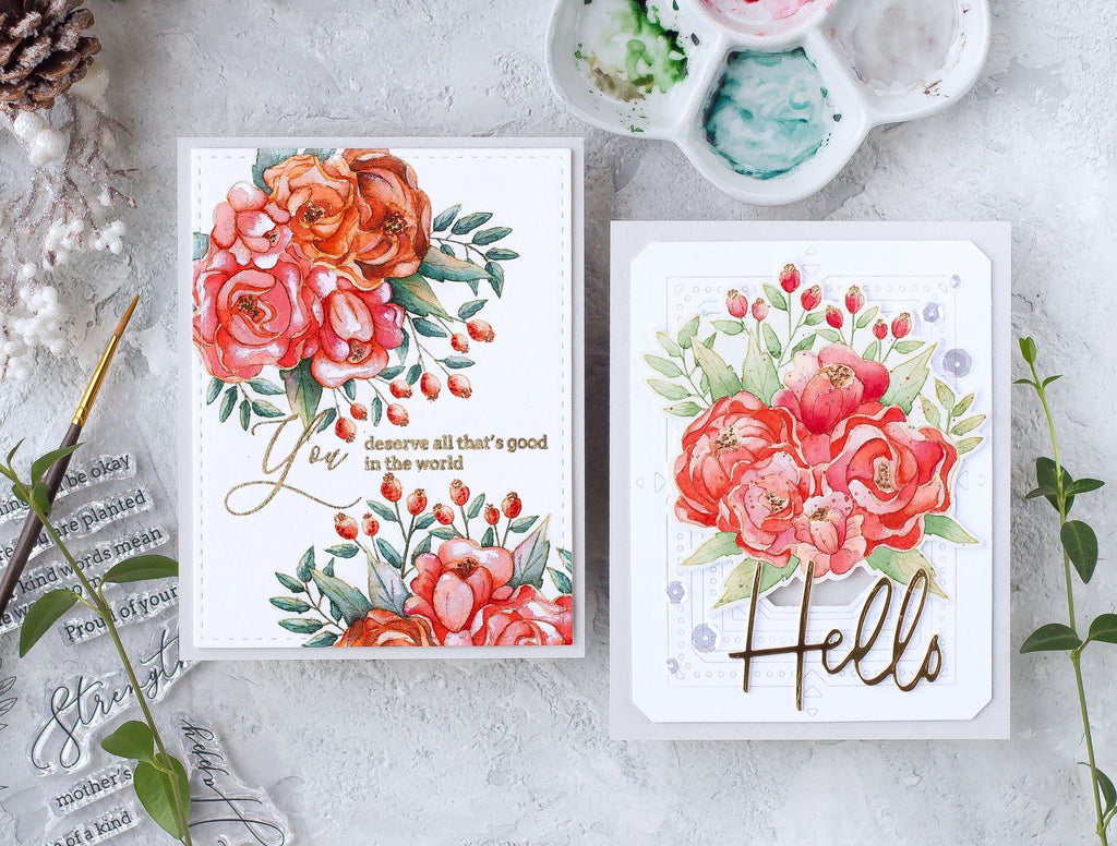 No-line Watercolor Cards | Kristina Pokazanieva