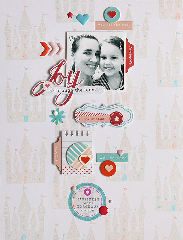 Joy layout with Anna and The Mix Nr 1. collection