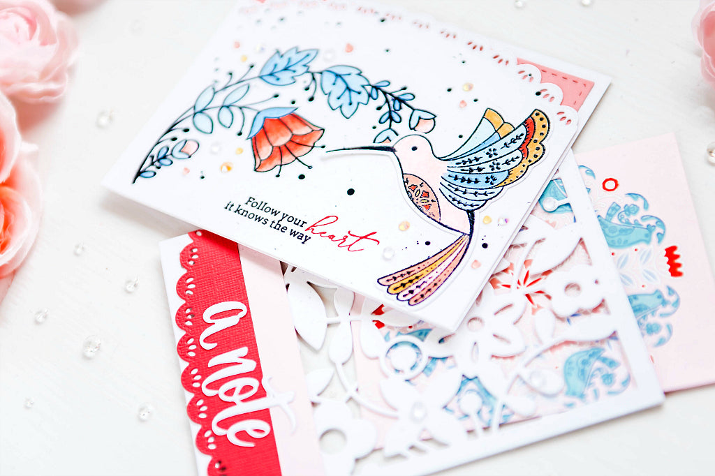 Folk Art Cards and Lacey Envelopes | Ivana Camdzic