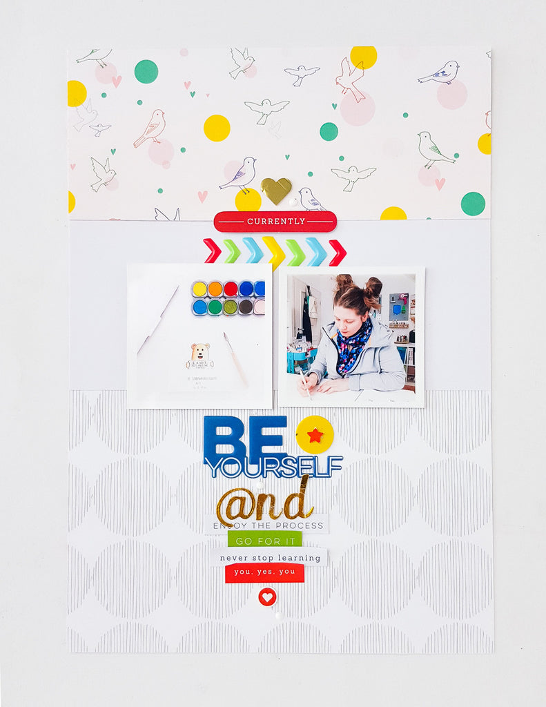 Create title & journaling with embellishments | Mix No.1 - Janna Werner