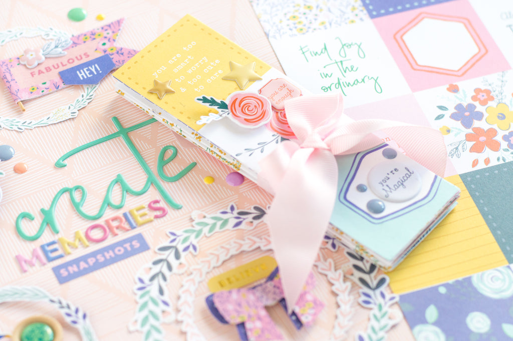 Joyful Day Layout and Mini Album I Flora Farkas