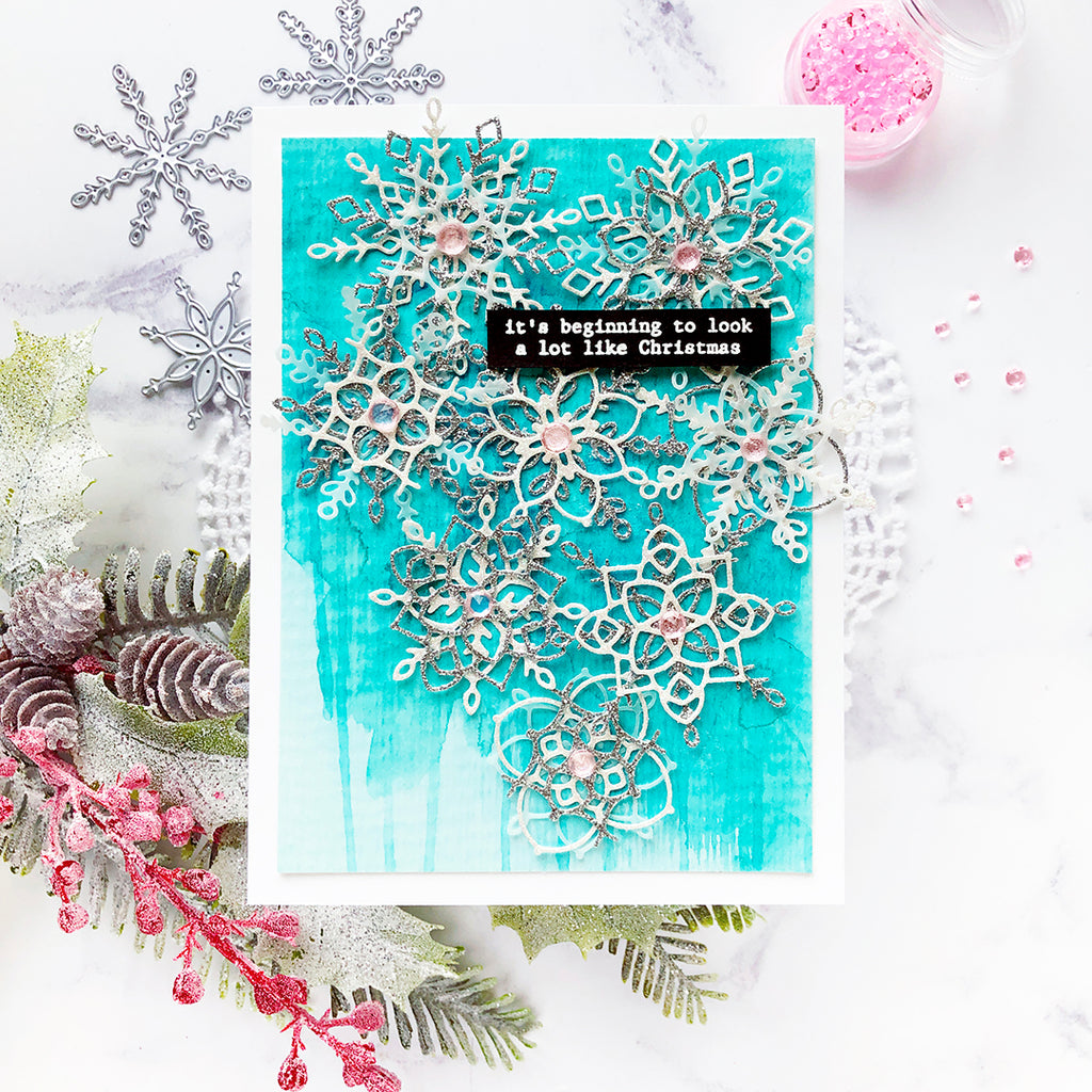 Layered Snowflakes | Caly Person – Pinkfresh Studio