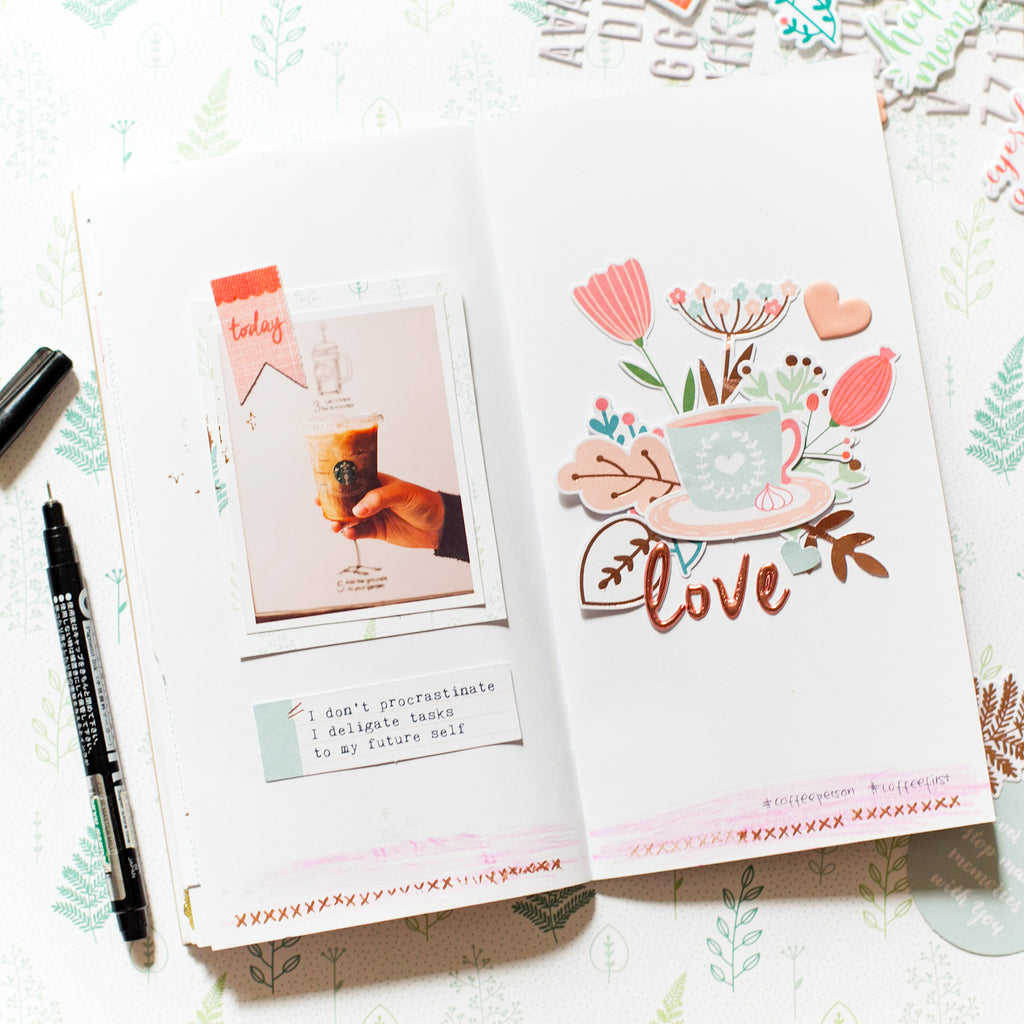Be You | Travel Notebook Spreads | Evelyn Yusuf