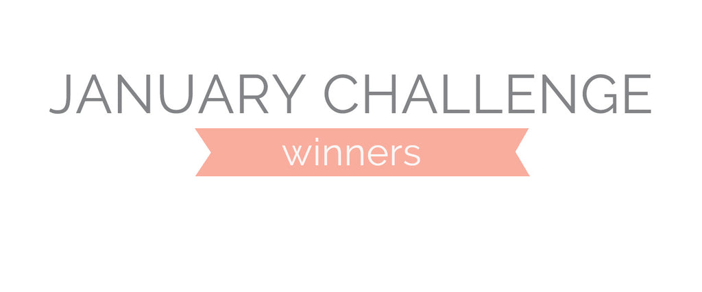 January Challenge Winners & Top 3