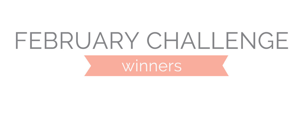 February Challenge Winners & Top 3