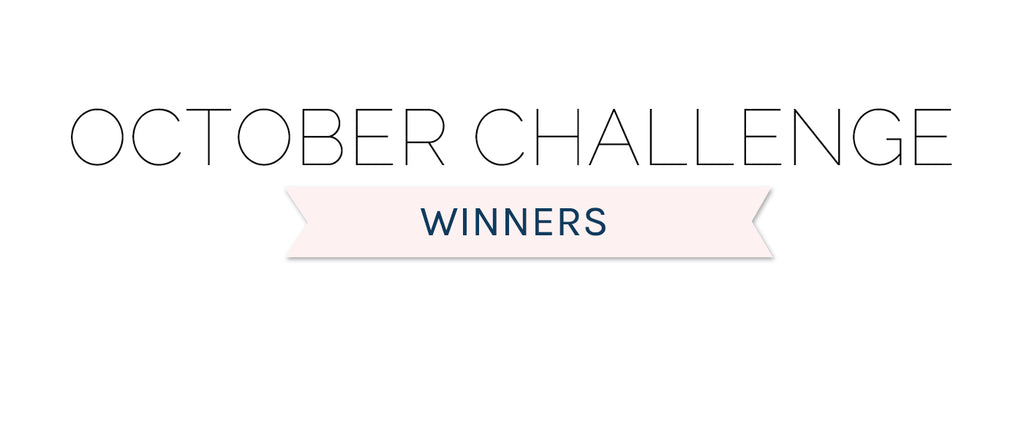 October 2020 Challenge Winners & Top 3