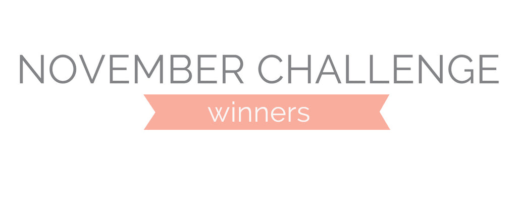 November Challenge Winners & Top 3