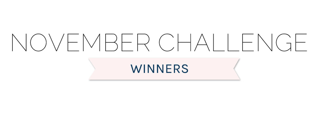 November 2020 Challenge Winners & Top 3