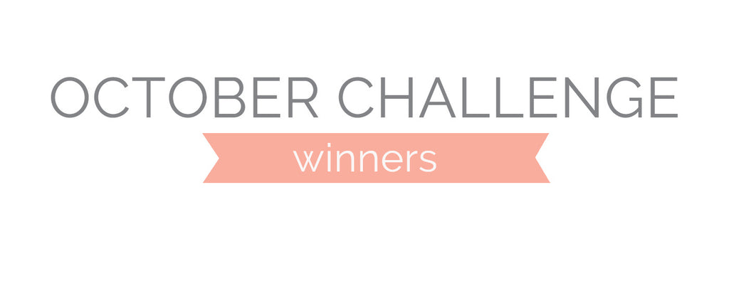 October Challenge Winners and Top 3