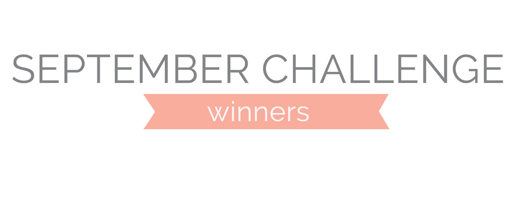 September Challenge Winners and Top 3