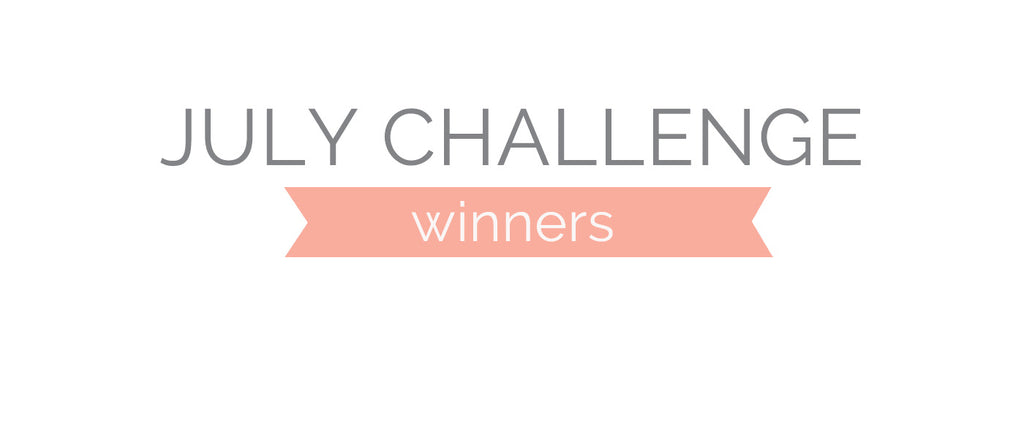 July Challenge Winners and Top 3