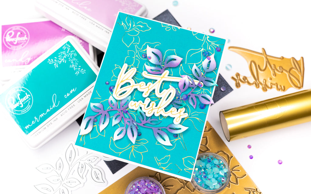 Hot Foiled Best Wishes | Jenny Colacicco