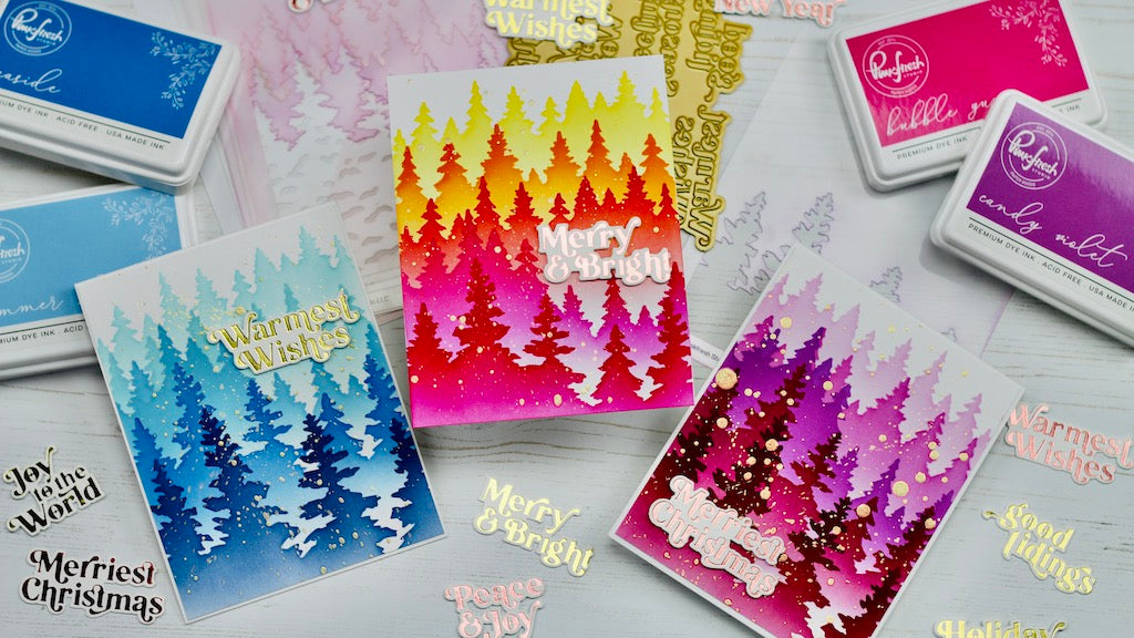 Magical Wintry Forest cards with Erica