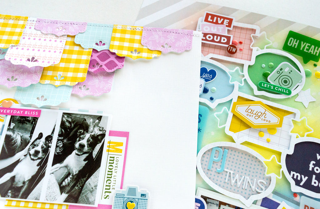 Scrapbook Layouts with Noteworthy and Super Cool  | Nathalie DeSousa
