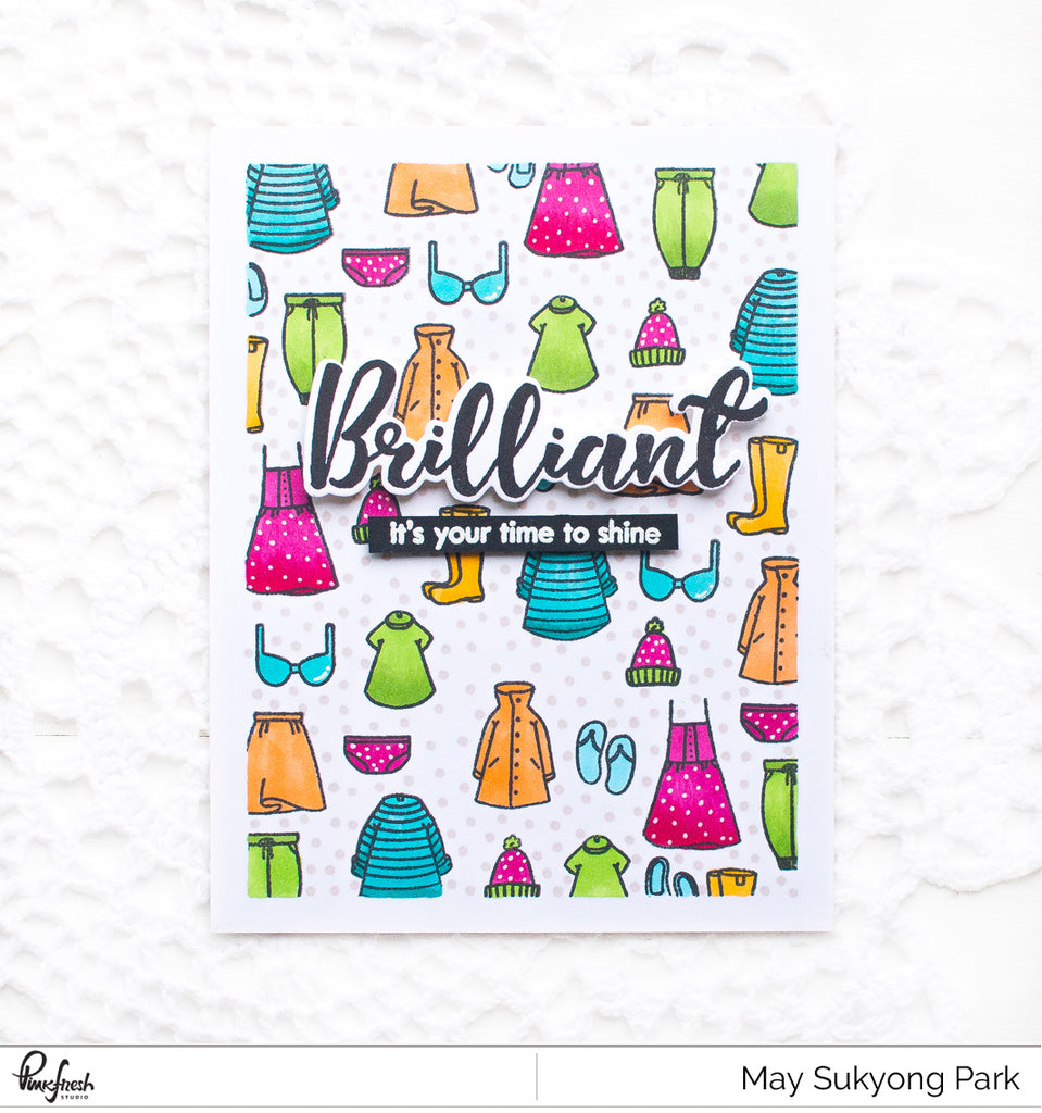 Fun Stamped Background with May Park